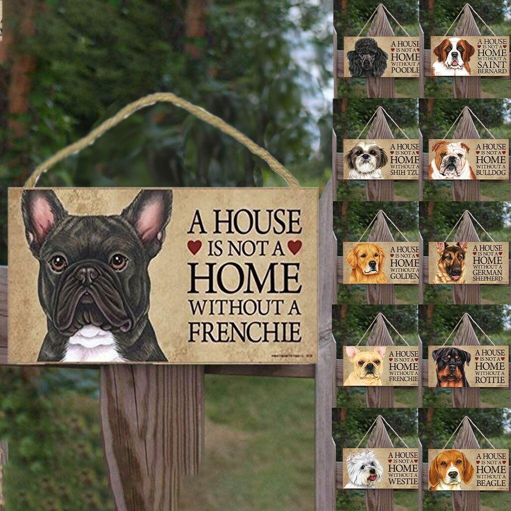 Знак собаки, Настенный декор, деревянный знак, винтажная домашняя вывеска для декора, деревянная доска, классная тарелка, деревянный плакат, настенные наклейки, Декор #1128y25