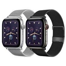 Bracelet pour montre Apple 5 bandes 44mm 40mm iWatch serie 6 SE 4 3 2 bracelet acier inoxydable bracelet milanais boucle pomme bracelet de montre 38mm 42mm