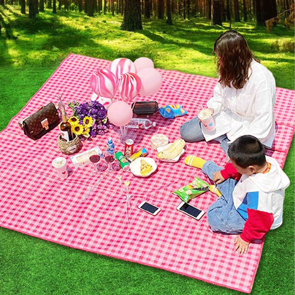 Плед для пикника на открытом воздухе, водонепроницаемый Карманный плед пляжа, кемпинга, пляжа и пик...