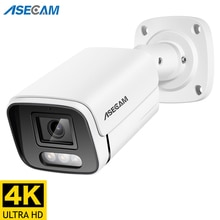 New 4K Ultra HD 8MP IP Camera Audio Outdoor POE H.265 Onvif Metal Bullet CCTV Home 4MP Array infrare