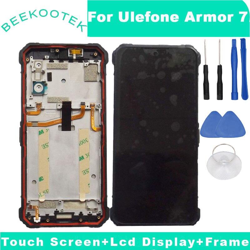 الأصلي Ulefone درع 7 LCD عرض وشاشة تعمل باللمس + الجمعية الإطار للهاتف Ulefone درع 7E مع أدوات