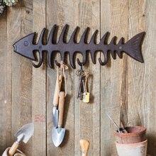 Hameçon de pêche marin à os de poisson   Pateau décoratif, hameçon mural décoratif de pêche