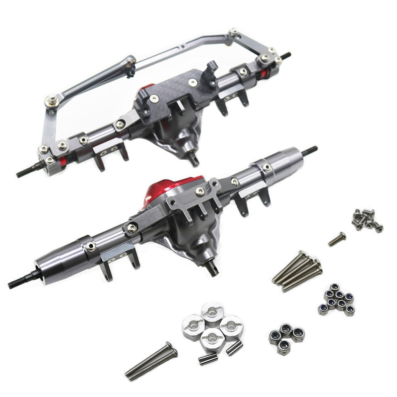 1/10 Simulation Climbing Car SCX10 Front and Rear Axle Metal Accessories Front and Rear Axle Assembly D90 Off-road Vehicle