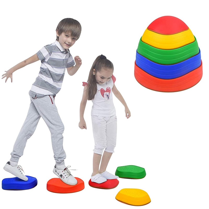 Balance Stepping Stones Kids Outdoor Toys 2 3 4 5 6 7 8 9 Years Old Cross The River Game Jeux Exterieur Jardin Enfant