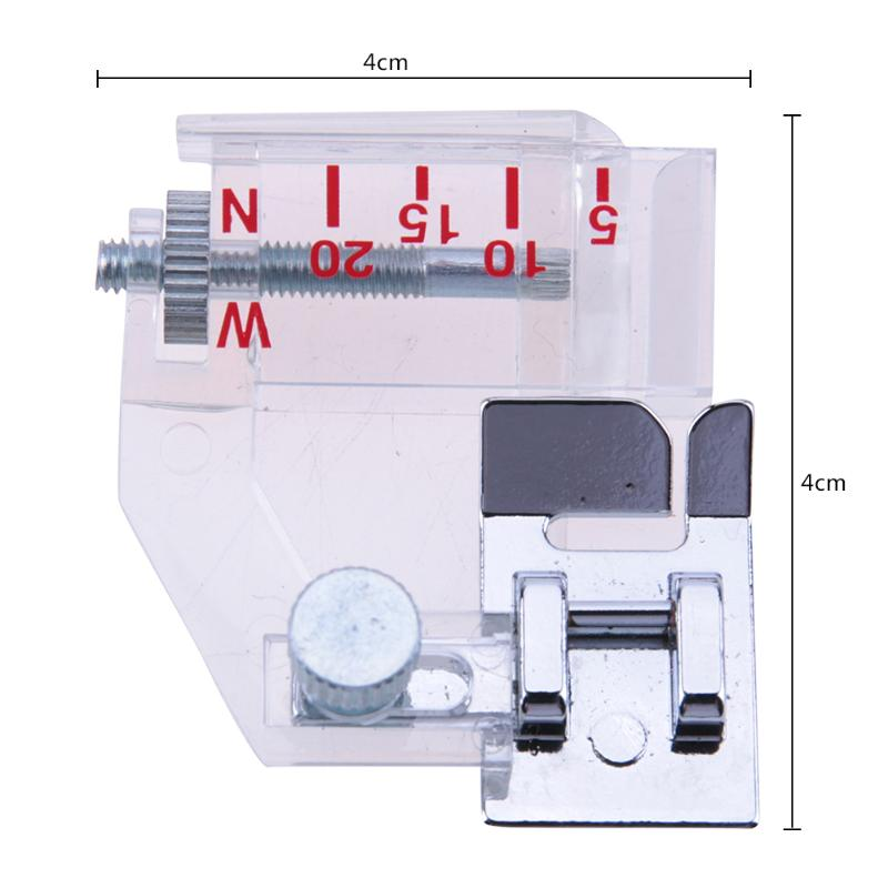 2020 Adjustable Bias Binder Presser Foot Plastic Attachment Binding Feet Sewing Machine  Sewing Kit Accessor Tape Maker Supplier