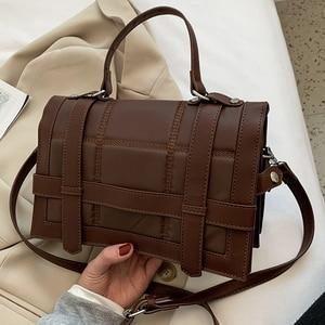 Vintage Quilted Women Shoulder Flap Bags 2021 Designer Handbags Luxury Leather Crossbody Messenger Bag Ladies Trendy Chic Purses