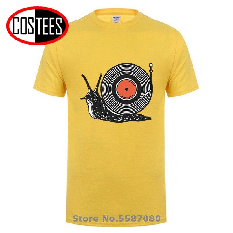 Camisetas divertidas de ritmo lento para hombre, camiseta de vinilo de Caracol...