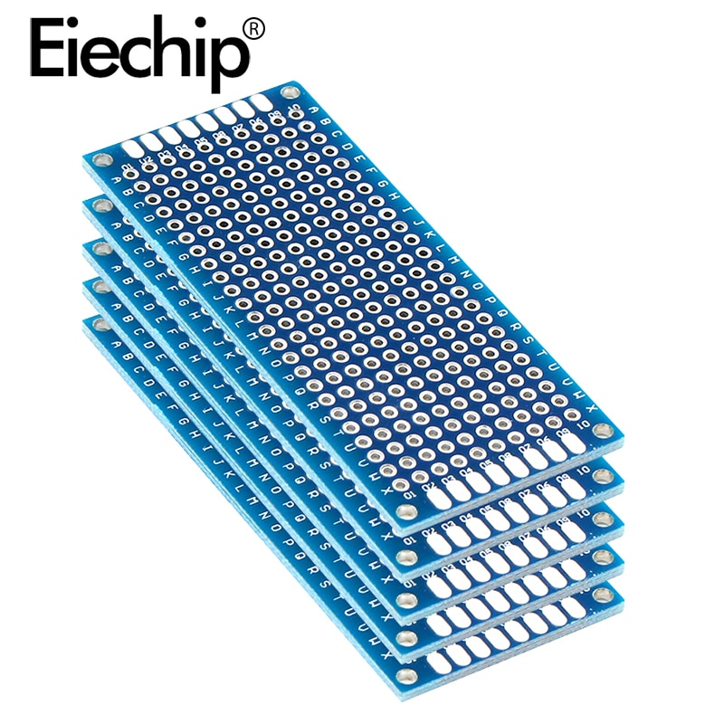 10 Uds placa electrónica PCB 3x7cm Diy placa de circuito impreso Universal 3*7cm doble cara prototipado PCB para placa de cobre Arduino