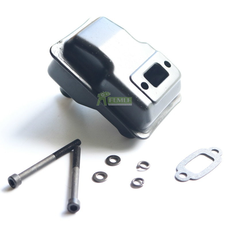 Metal Muffler For 23cc 26cc 29cc 30 5cc Engine Fit For 1 5 Hpi Rofun Rovan Km Baja 5b 5t 5sc Rc Car Toys Parts Parts Accessories Aliexpress