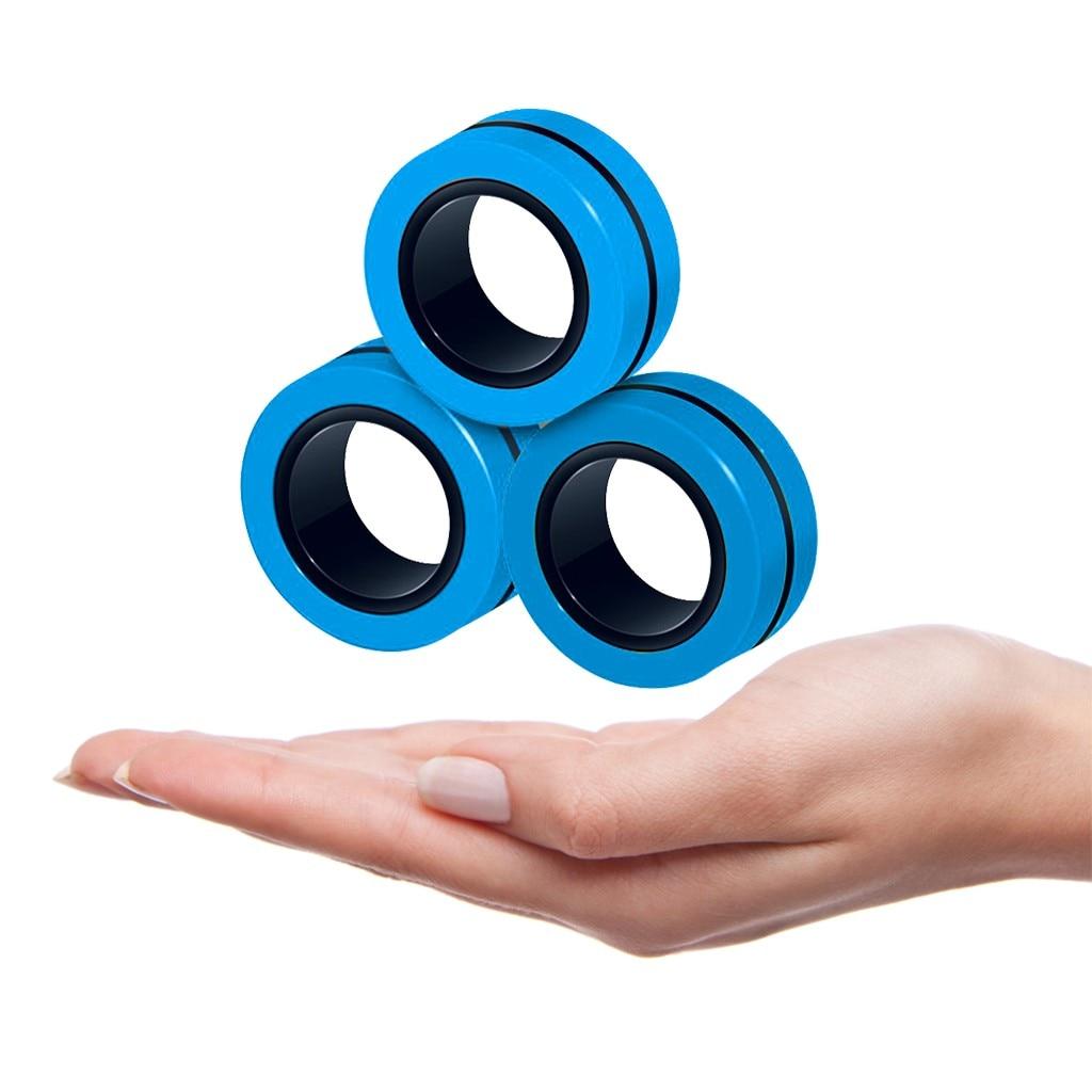 3 pieces of Fidget trim box interesting magnetic bracelet ring decompression toy magic ring props magnetic bracelet toy stress enlarge
