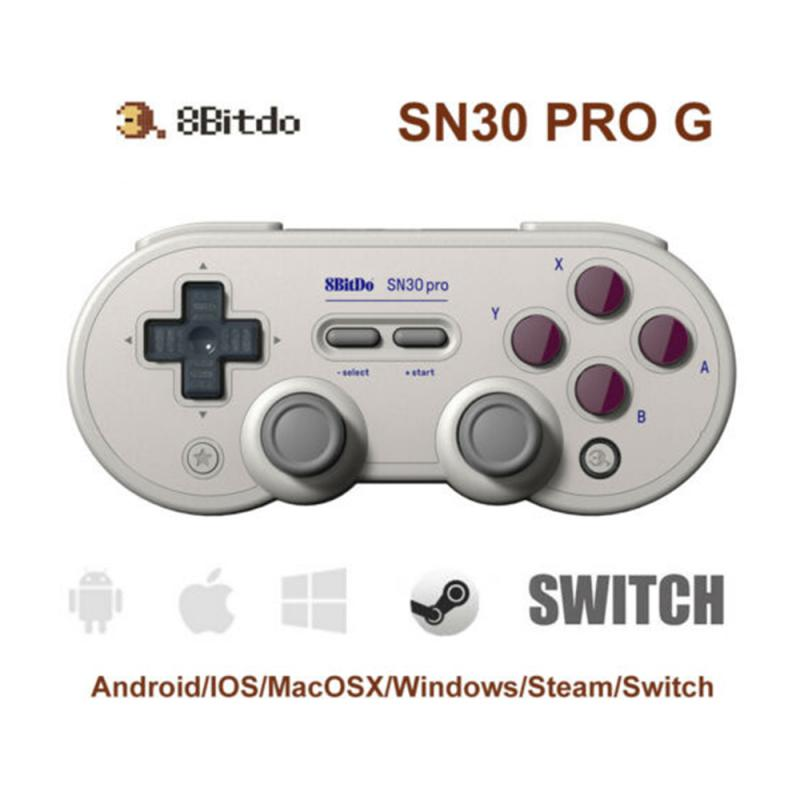 Diseño Retro USB Gamepad para Android Sf30pro Sn30-Pro 8bitdo Bluetooth controlador de juego inalámbrico