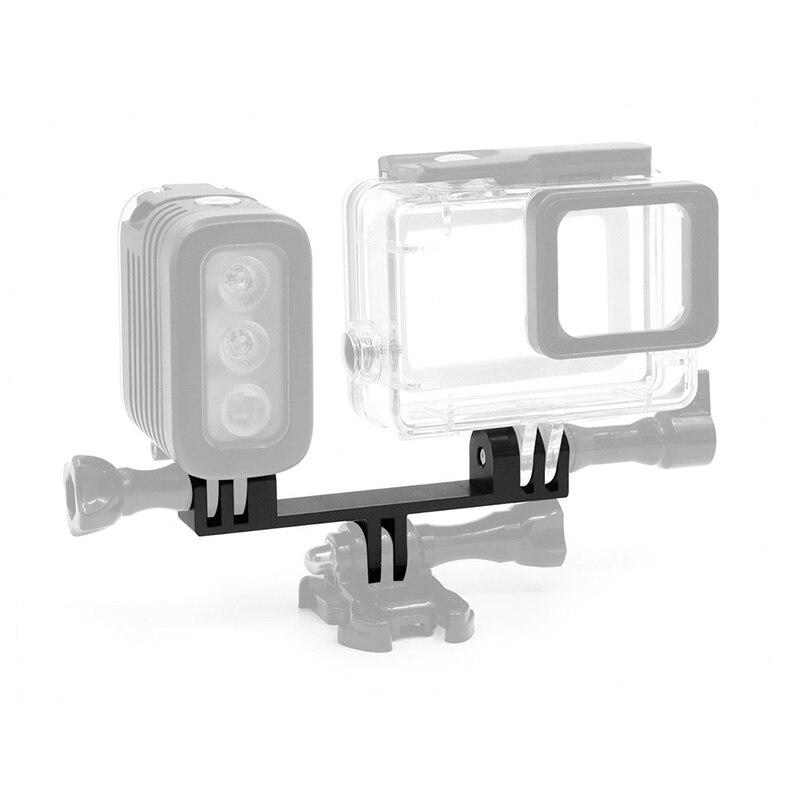 Adaptador bidireccional de doble cabeza de aleación de aluminio, soporte de luz...