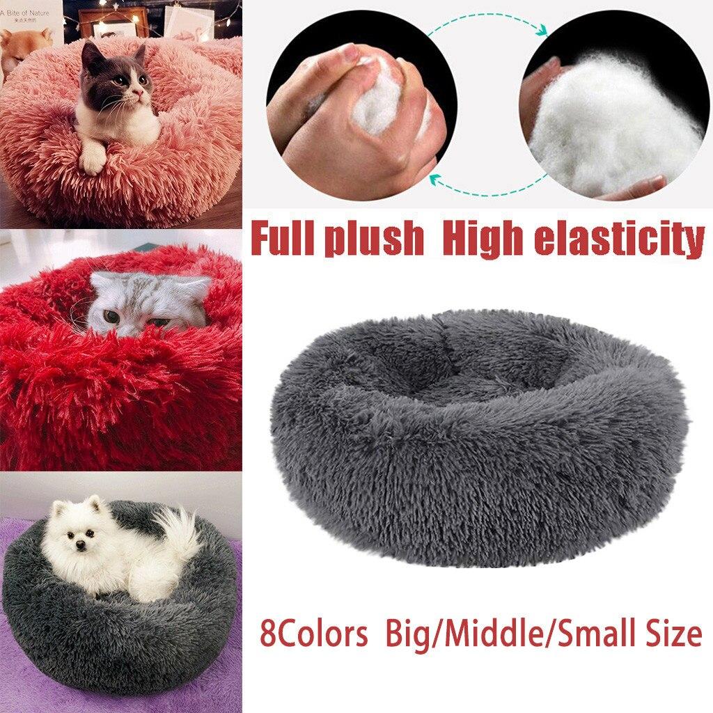 Wygodne pluszowe hodowla psy domowe miot głęboki sen PV żwirek dla kotów łóżka do spania psia buda mata Sofa pies kosz łóżko dla zwierząt zima S-L