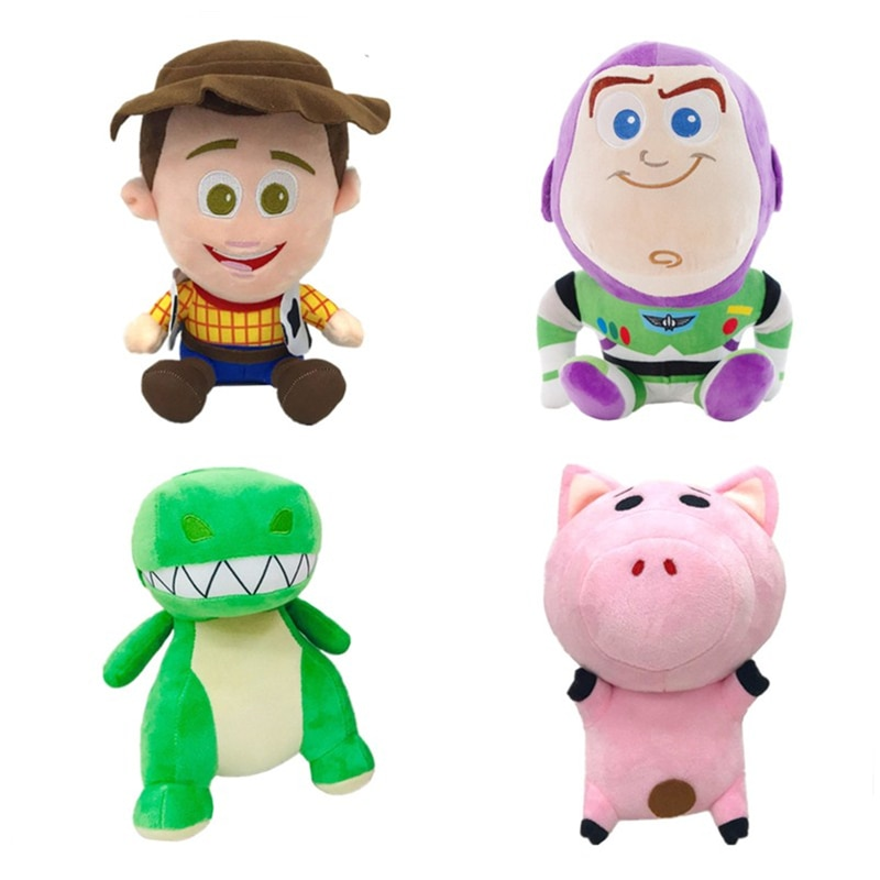20CM Disney Pixar Toy Story 3 4 Woody Buzz Lightyear plush toy stuffed animal soft doll movie surrounding children gifts