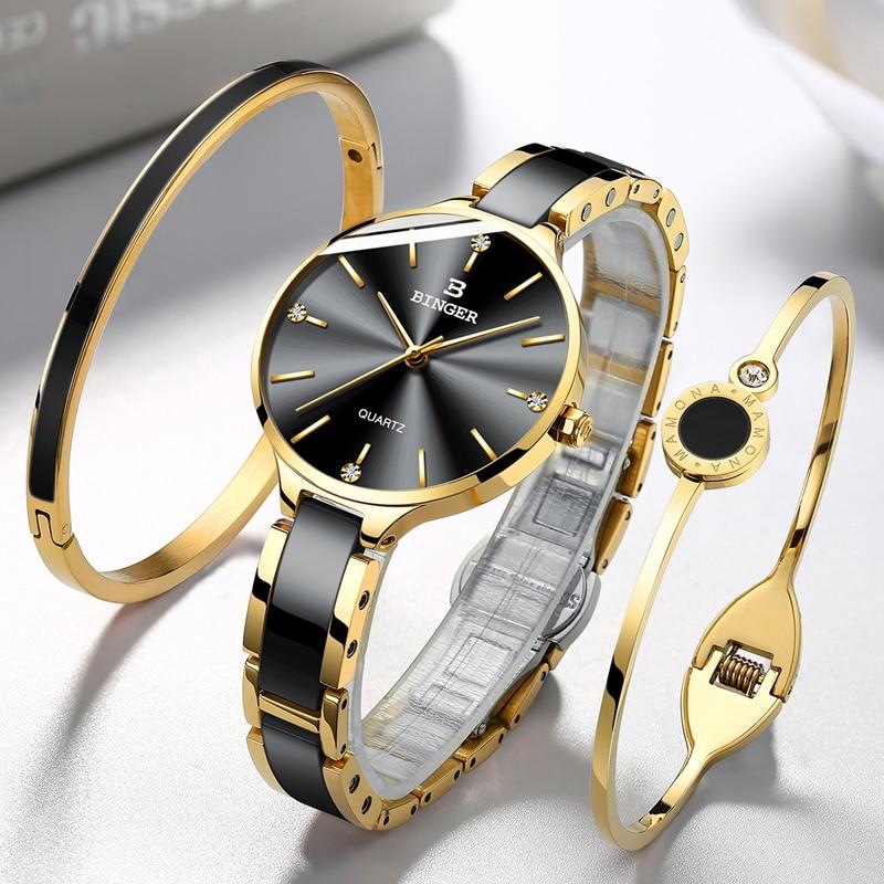 BINGER Women's Quartz Watch,BINGER Women's Quartz Watches,Ceramic ladies waterproof watches,Ceramic ladies waterproof watch,