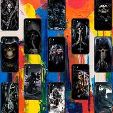 Grim Reaper Skull Skeleton Phone Case For Huawei P Mate Smart 10 20 30 40 Lite Z 2019 Pro black Etui