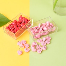 50 unids/set creativo romántico en forma de corazón Pushpin lindo Rosa Push Pins Thumbtack Oficina suministros escolares Accesorios