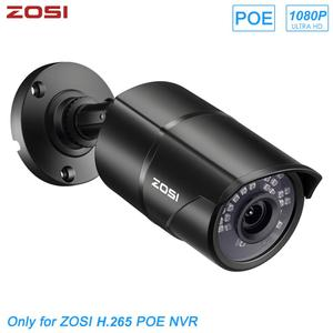 ZOSI H.265 2MP 1080P Ultra HD POE IP Bullet CCTV IP Camera for Video Surveillance POE NVR System Waterproof Outdoor Night Vision