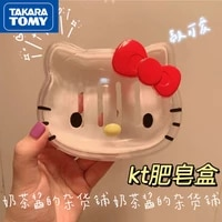 takara tomy hellokitty cartoon cute creative personality household toilet travel storage box with lid soap box