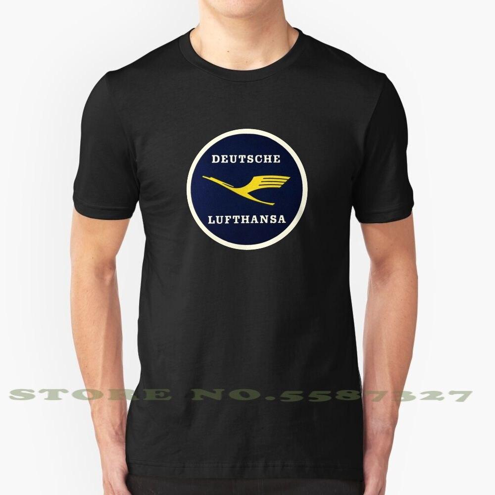 Lufthansa-Camiseta Vintage de moda, camisetas Vintage de vuelo, viaje, transporte, nostálgica, nostálgica,...
