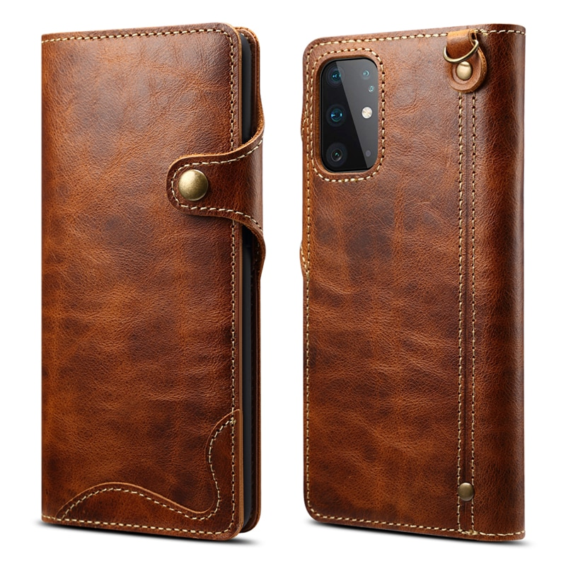 S 21 Ultra 5G Real Leather Flip Case for Samsung S21 Plus S20 Luxury Cover Book Etui for Samsung Galaxy Note 20 S10 E 10 Note20