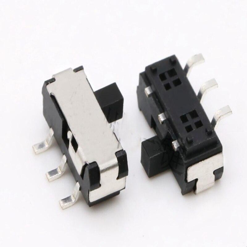 10 piezas MSKT-22D14A interruptor de conmutación de juguete 3 pies 2 engranaje interruptor de parche horizontal