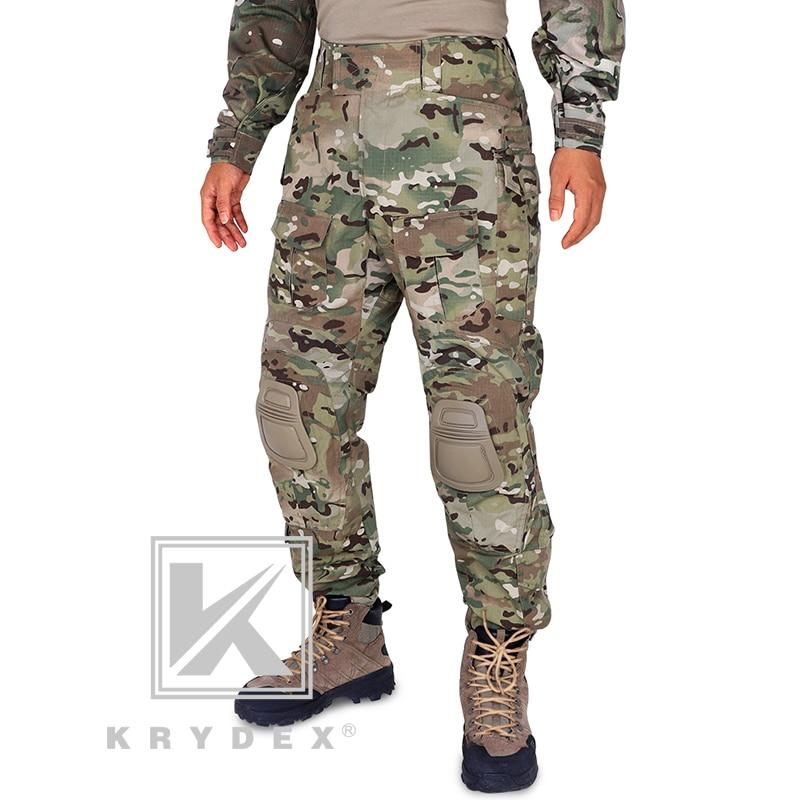 Pantalones de combate tácticos BDU G3 estilo Multicam CP pantalones de asalto de campo de batalla uniforme BDU con rodilleras para caza militar