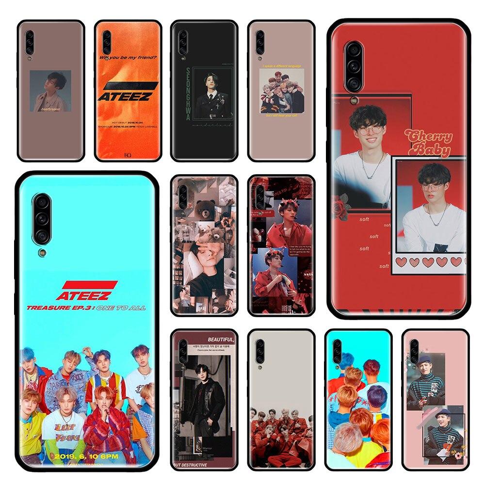 KPOP ATEEZ caso para Samsung Galaxy A50 A70 A70s A50s A80 A40 A30 A20e A20s A10e A10 suave negro teléfono Coque