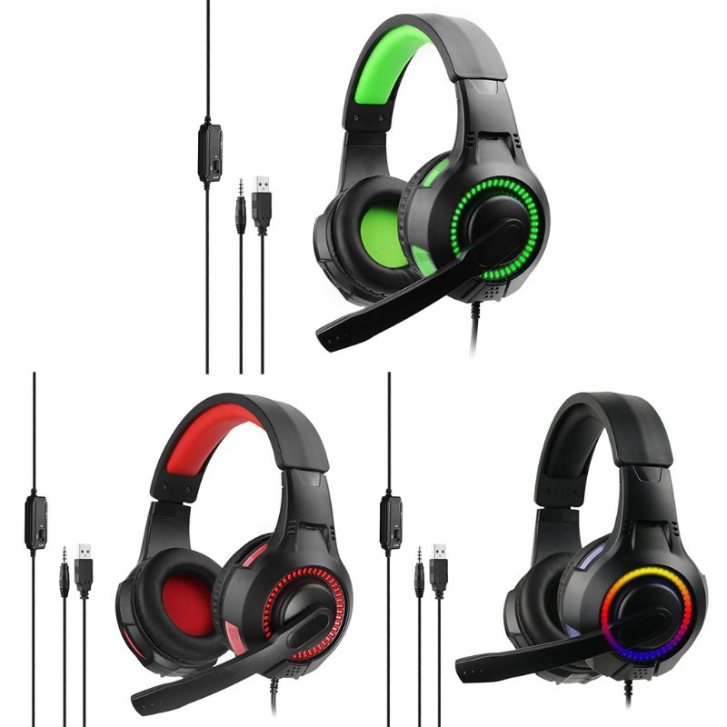 Auriculares con micrófono Hi-Fi LDE Glow Gaming Headset para PC PS4 x-box One