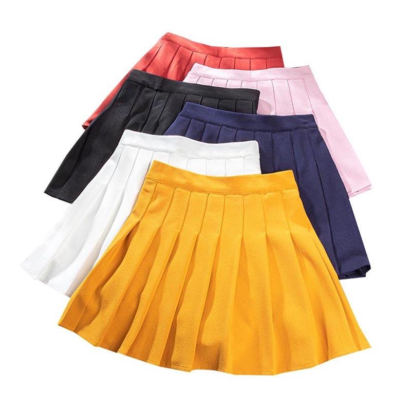 XS-XXL Elastic Waist Women's Skirts Summer Fashion Female Pleated Skirt Harajuku Preppy Style Ladies Girls Dance Mini Skirts