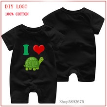 I Heart Love Turtles Cute Turtle Funny printed romper Baby Summer Clothing Baby Kids Boy Girl Infant