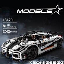 Technics 18 스케일 차량 Koenigsegg agera 빌딩 블록 슈퍼 스포츠 자동차 조립 장난감 벽돌 컬렉션 소년 선물