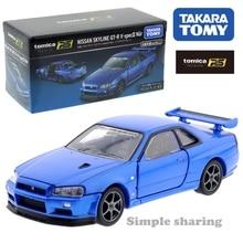Takara Tomy Tomica Premium RS Nissan horizon GT-R V Spec II Nur Bayside bleu échelle 1/43 sport voiture véhicule moulé sous pression en métal jouets