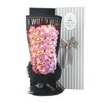 Bouquet de roses a savon  fausses fleurs  pour la saint-valentin  decoration de mariage  pour la maison  pour un salon