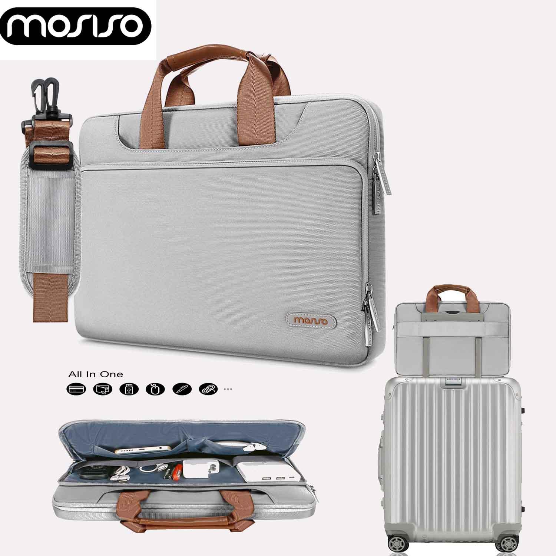 MOSISO 13 13.3 14 15 inch Laptop Sleeve Case Bag Polyester Shoulder Handbag Belt for Macbook Air Pro/Huawei matebook/Lenovo yoga