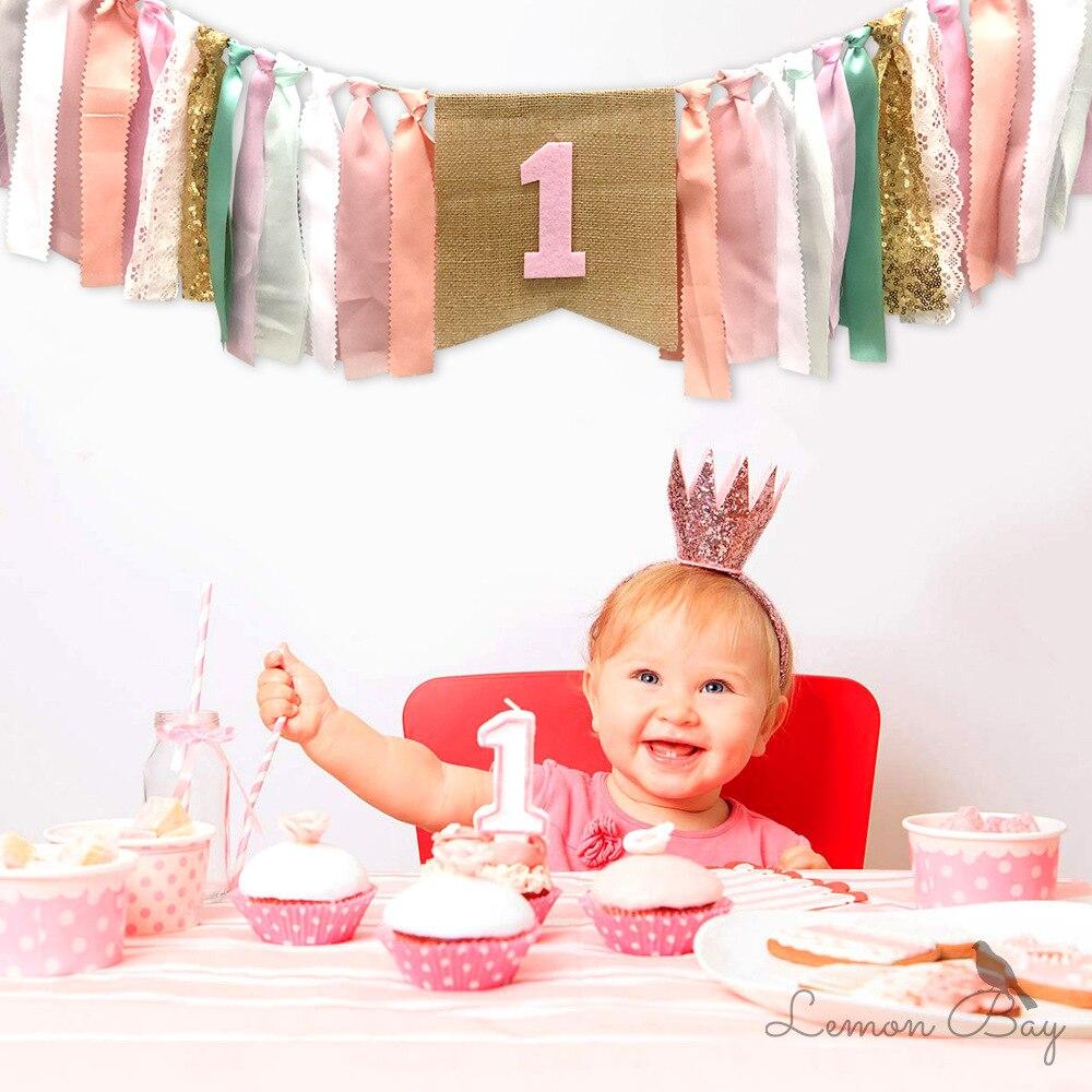 Bébé fête danniversaire drapeau jouets éducatifs pour enfants partie photographie outils décoratifs Montessori matériaux calme tissu jouet