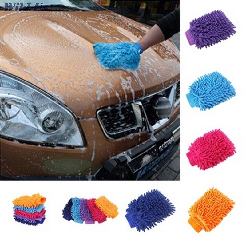 Ультратонкое волокно синель антозоан автомойки перчатки мойки автомобиля поставки 1 шт