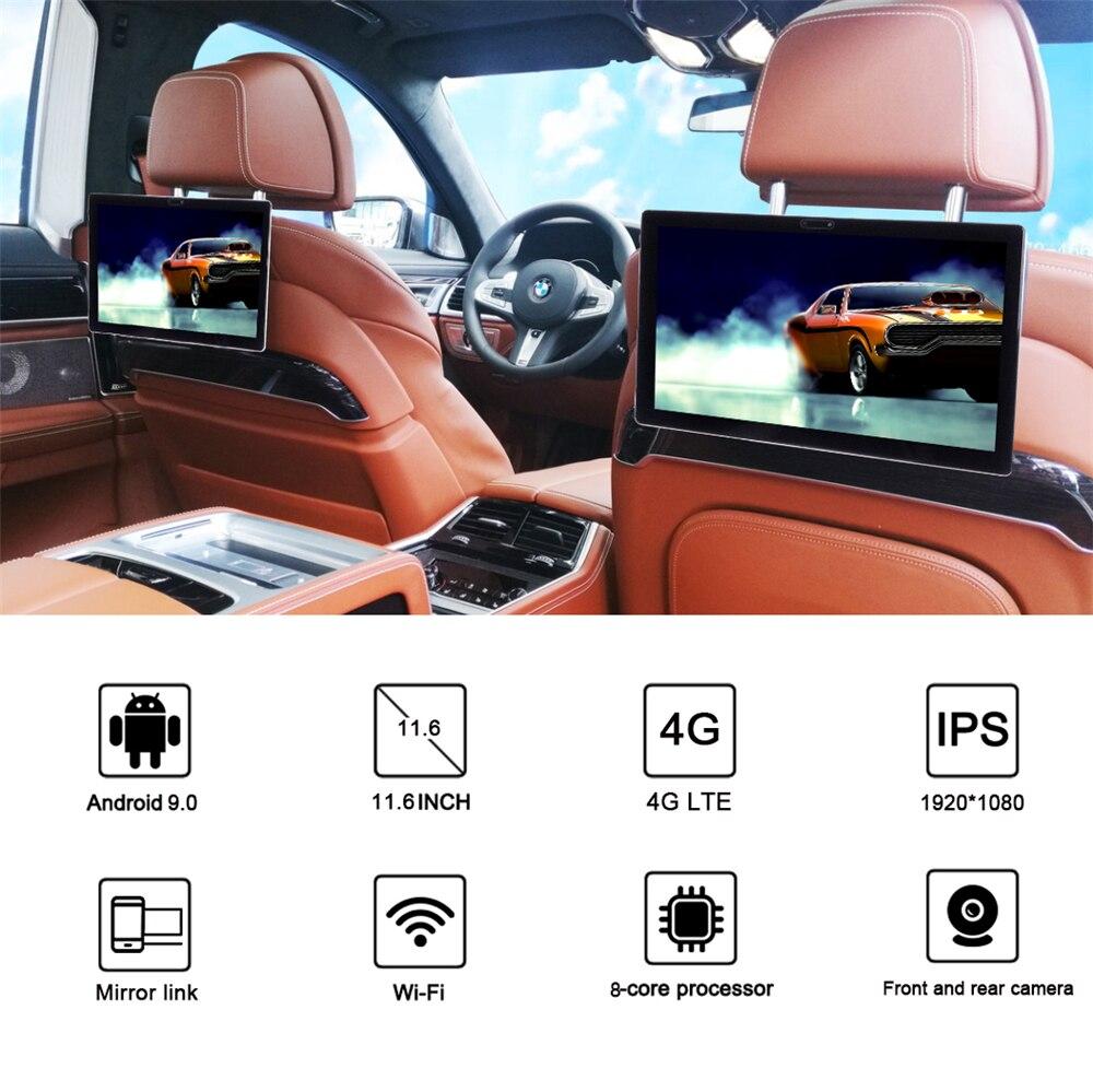 Monitor para reposacabezas de Coche, reproductor de vídeo estéreo con Android, Pantalla...