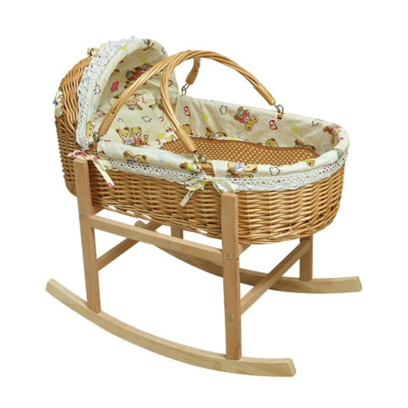 Ротанговая Колыбель деревянная детская кроватка для новорожденных Москитная детская спальная корзина портативная тележка детская кроват...