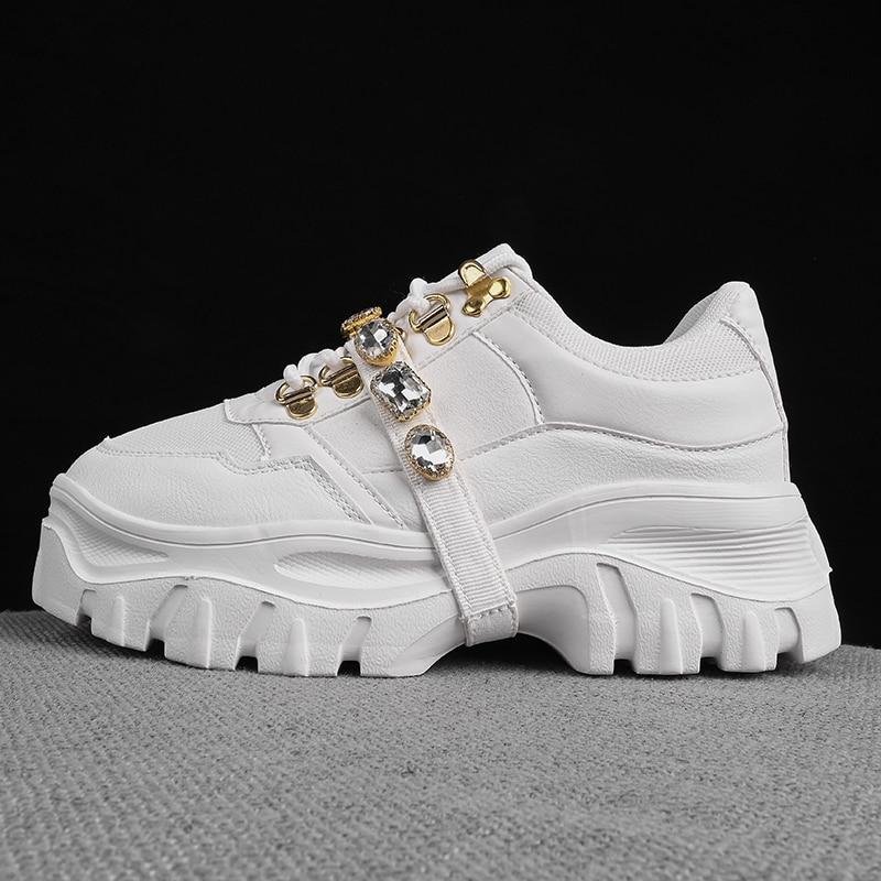 رياضية 2020 جديد المرأة منصة مكتنزة رياضية السيدات أزياء سميكة وحيد أحذية الارتفاع زيادة أبي الأحذية عارضة الأحذية
