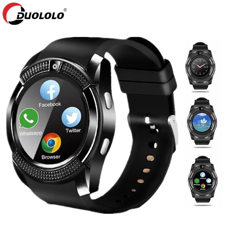 Смарт-часы мужские спортивные часы с Bluetooth женские умные часы с сенсорным экраном наручные часы с камерой/слотом для sim-карты для телефона ...