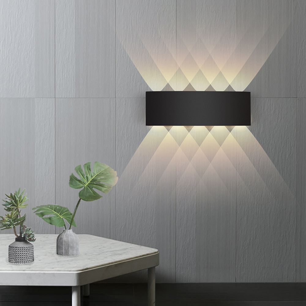 IP65 LED Wall Light Aluminum RGB Outdoor Waterproof Garden Fence Indoor Fashion Wall Lamp For Bedroo