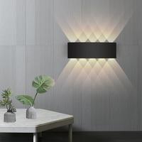 Светодиодная настенная алюминиевая уличная Водонепроницаемая садовая лампа, модный комнатный светильник для забора, спальни, прикроватно...