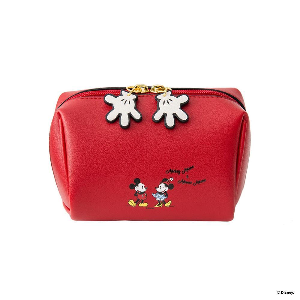 Disney bolsa de pelúcia cosmética mickey mouse, bolsa de mão de desenho animado para moedas, pu, porta cartões