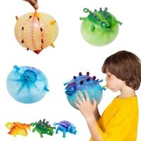 1pc random creative inflatable animal model squishy toys adult vent stress relief toy inflated dinosaur turtle lizard