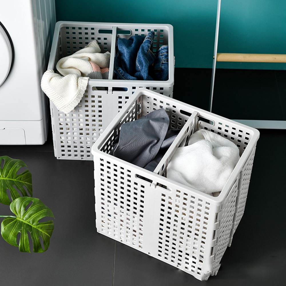 سلة غسيل قابلة للطي ، سلة تخزين ملابس متسخة كبيرة ، صندوق ألعاب ، منظم حمام ، برميل حاوية منزلية