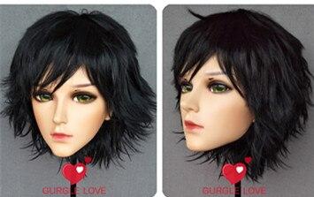 (NEUE-06) Handgemachte Weiblich Männlich Harz Crossdress Hübsches Mädchen BJD Masken Japanischen Anime Cosplay Kigurumi Maske