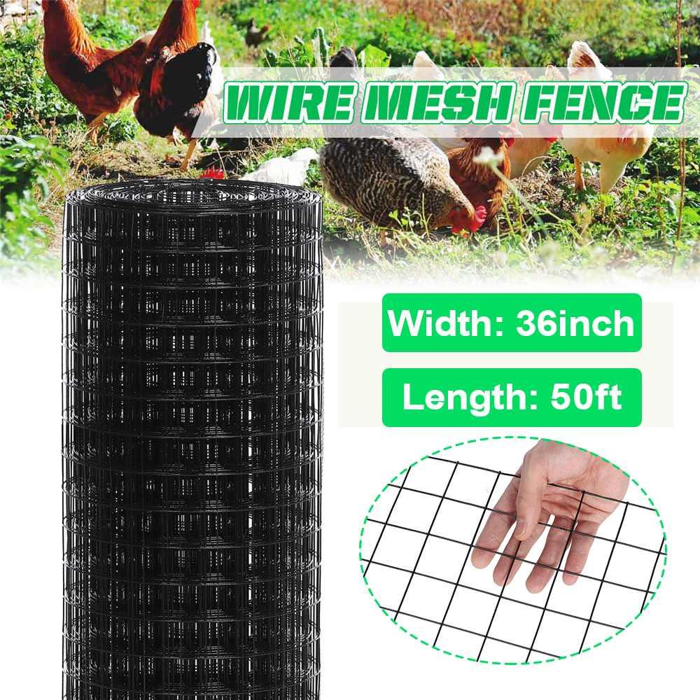 1.5 in Mesh Net Fence Aviary Rabbit Hutch Chicken Coop Garden Net Pet Wire Fence Mesh Fencing for Birds Chicken Dog Cat