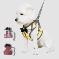 dog harness and leash set puppy cat adjustable harnesses vest walking lead mesh harness for small medium dog pet accessories
