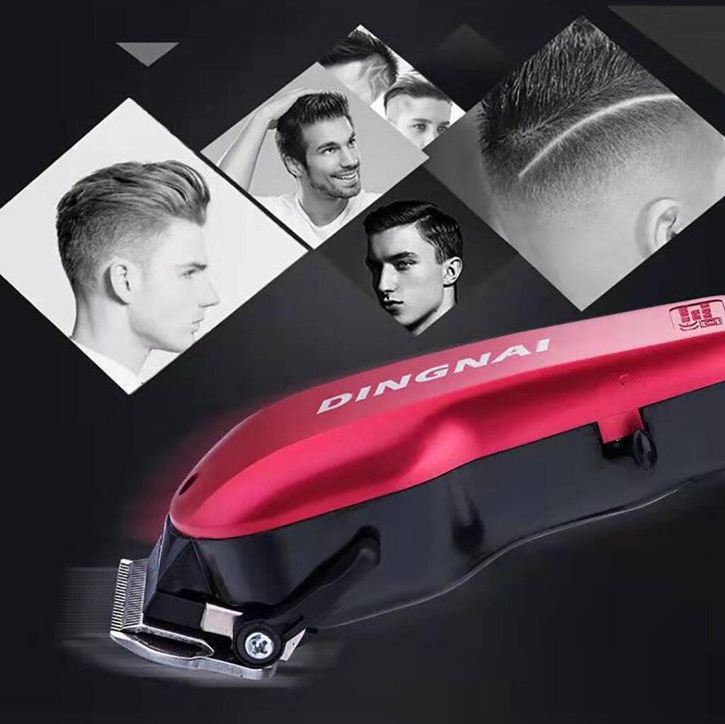 Potente cortador de cabello eléctrico cortador de cabello profesional para hombres Máquina para cortar cabello cortador de pelo inalámbrico recargable herramienta de barbero